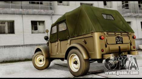 GAZ-69A IVF for GTA San Andreas left view