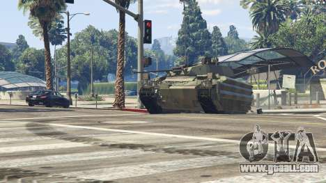 GTA 5 FV510 Warrior rear right side view
