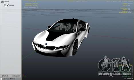 GTA 5 2015 BMW I8 right side view