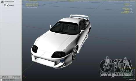 Toyota Supra JZA80 v1.4 for GTA 5