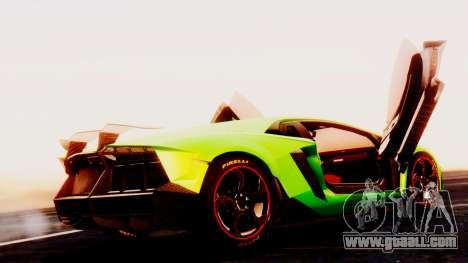 Lamborghini Aventador Mansory for GTA San Andreas left view
