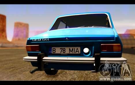 Dacia 1300 1969 for GTA San Andreas inner view