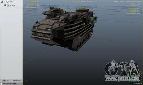 GTA 5 AAV-7A1 AMTRAC right side view