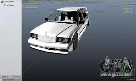 GTA 5 Mercedes-Benz 190E Evolution v1.1 right side view