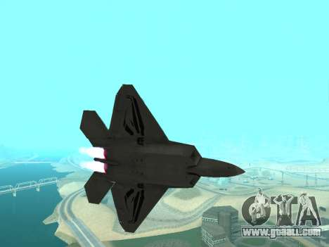 F-22 Raptor for GTA San Andreas left view