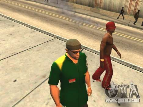 Couples mouth CJ'ya and passers-by for GTA San Andreas forth screenshot