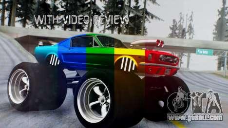 Ford Mustang 1966 Chrome Edition v2 Monster for GTA San Andreas