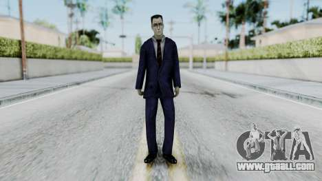GMAN v2 from Half Life for GTA San Andreas second screenshot