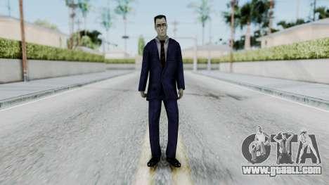 GMAN v2 from Half Life for GTA San Andreas second screenshot