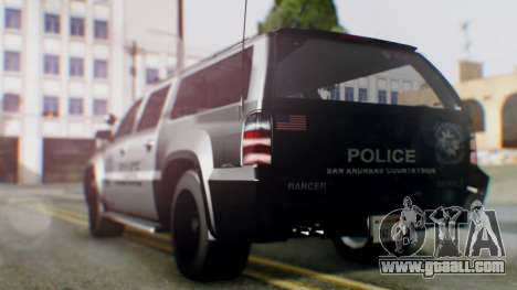 GTA 5 Police Ranger for GTA San Andreas back left view