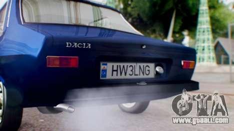 Dacia 1300 v2 for GTA San Andreas back view