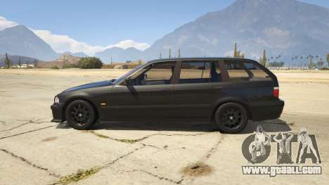 GTA 5 BMW M3 E36 Touring left side view
