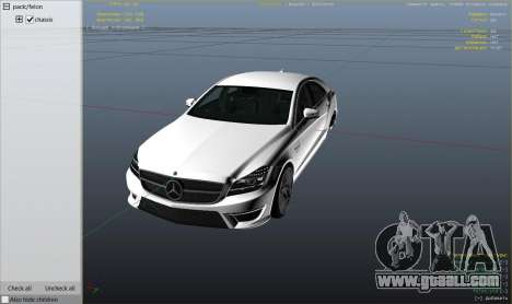 GTA 5 Mercedes-Benz CLS 63 AMG v.1.2 right side view