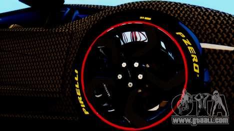 Lamborghini Aventador Mansory Carbonado for GTA San Andreas back left view