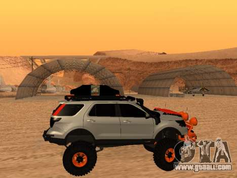 Ford Explorer 2013 Off Road for GTA San Andreas back left view