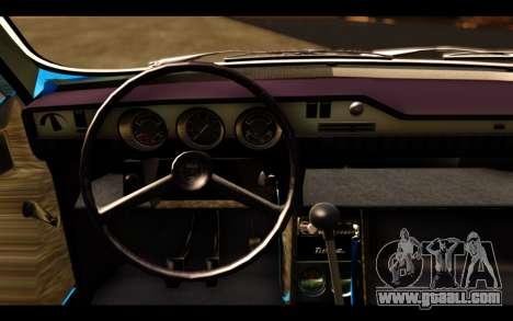 Dacia 1300 1969 for GTA San Andreas back left view