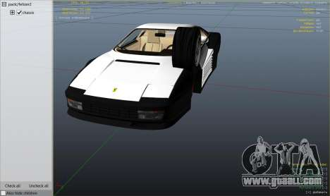 GTA 5 1984 Ferrari Testarossa 1.9 right side view