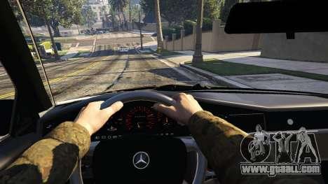 GTA 5 Mercedes-Benz 190E Evolution v1.1 rear right side view