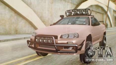 Nissan Skyline GT-R R34 RAID Spec for GTA San Andreas