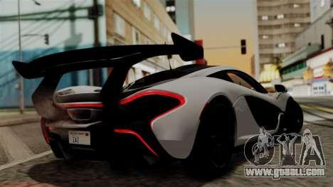 McLaren P1 GTR-VS 2013 for GTA San Andreas left view