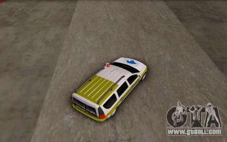Dacia Logan Emdad Khodro for GTA San Andreas back left view
