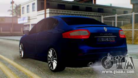 Renault Fluence King for GTA San Andreas left view