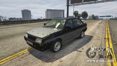 GTA 5 VAZ 21099 v3 steering wheel