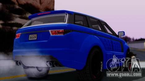 GTA 5 Gallivanter Baller LE Arm for GTA San Andreas back left view