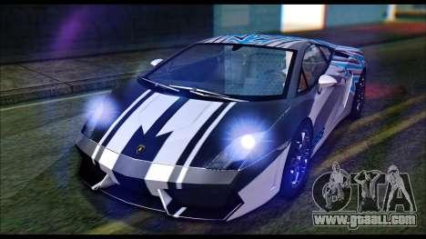Lamborghini Gallardo LP560 PJ for GTA San Andreas back view