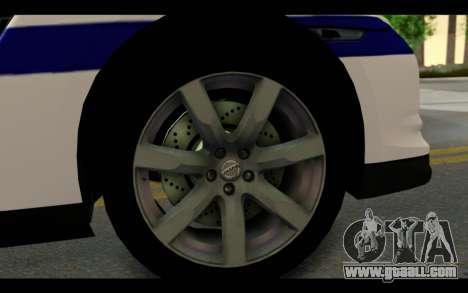 Nissan GT-R Policija for GTA San Andreas back view