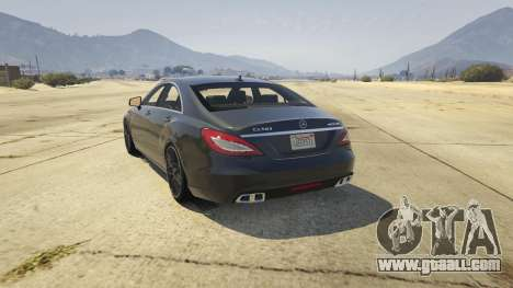 GTA 5 Mercedes-Benz CLS 63 AMG v.1.2 rear left side view