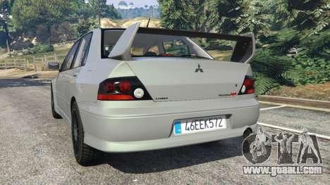 GTA 5 Mitsubishi Lancer Evolution VIII MR rear left side view