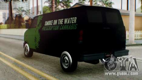 GTA 5 Brute Pony Smoke on the Water for GTA San Andreas left view