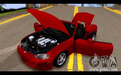 Mazda MX-5 for GTA San Andreas side view