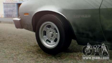 Ford Gran Torino 1974 IVF for GTA San Andreas back view