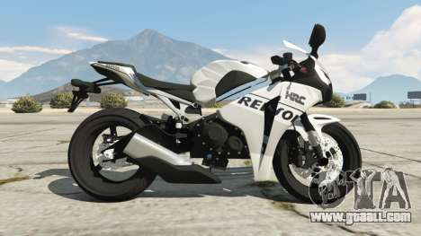 GTA 5 Honda CBR1000RR [Repsol White] left side view