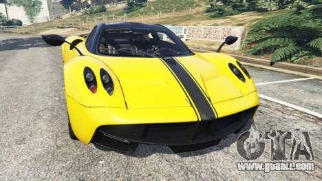 Pagani Huayra 2013 v1.1 [yellow rims] for GTA 5