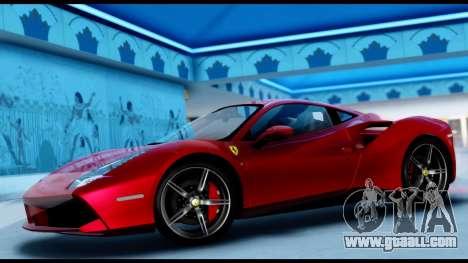 Ferrari 488 GTB 2016 for GTA San Andreas back left view