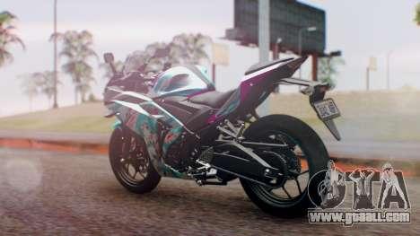 Yamaha R25 2015 EV Mirai Miku Racing 2013 for GTA San Andreas left view