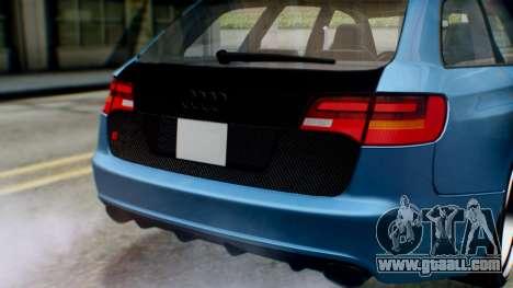 Audi RS6 Avant 2009 for GTA San Andreas inner view