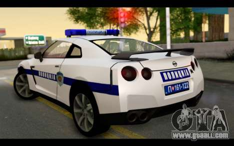 Nissan GT-R Policija for GTA San Andreas left view
