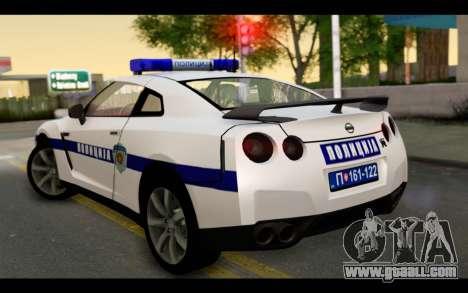 Nissan GT-R Policija for GTA San Andreas left view