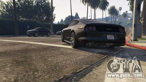 GTA 5 Ford Mustang GT 2015 v1.1 back view