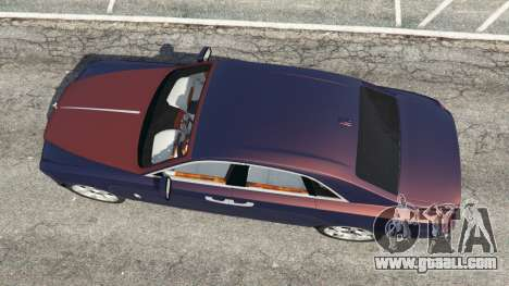 GTA 5 Rolls Royce Ghost 2014 v1.2 back view