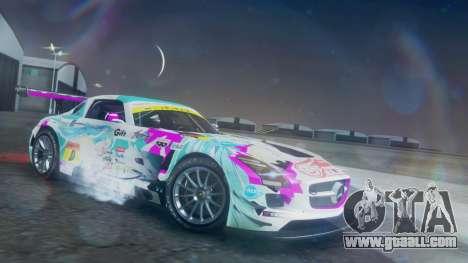 Mercedes-Benz SLS AMG GT3 2015 Hatsune Miku for GTA San Andreas