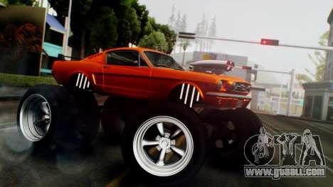 Ford Mustang 1966 Chrome Edition v2 Monster for GTA San Andreas back left view