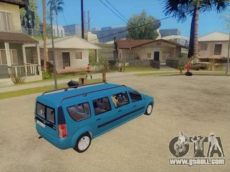 Lada Largus 7-door for GTA San Andreas left view