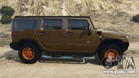GTA 5 Hummer H2 2005 [tinted] left side view