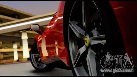 Ferrari 488 GTB 2016 for GTA San Andreas back view