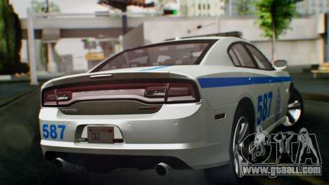Dodge Charger SRT8 2015 Police Malaysia for GTA San Andreas left view